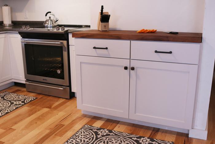 20. Plywood Kitchen Cabinet With White Paint
