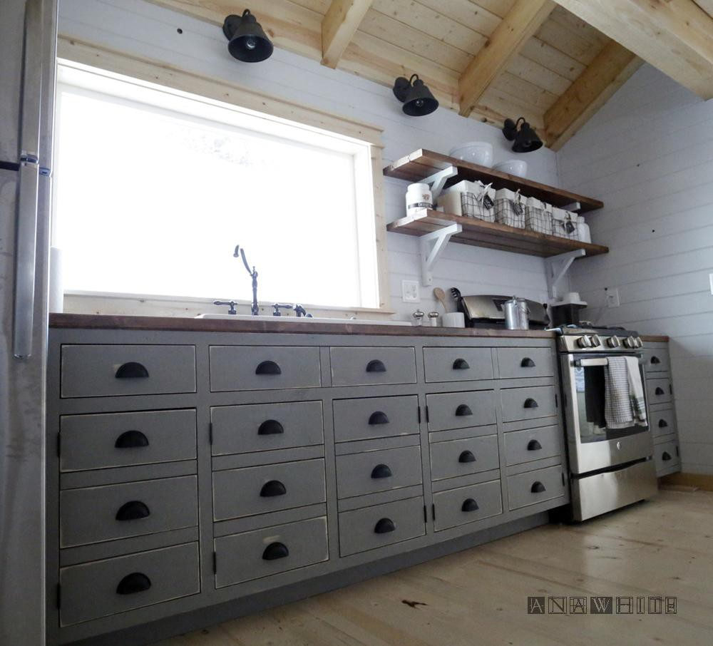 21. Apothecary Style Kitchen Cabinet
