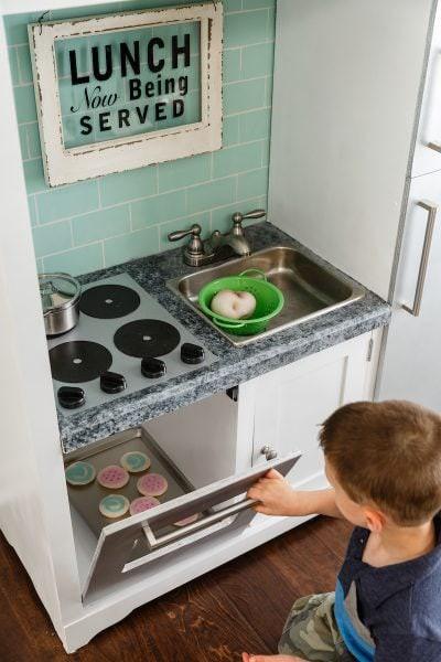 22. DIY Kitchen Idea From Entertainment Center