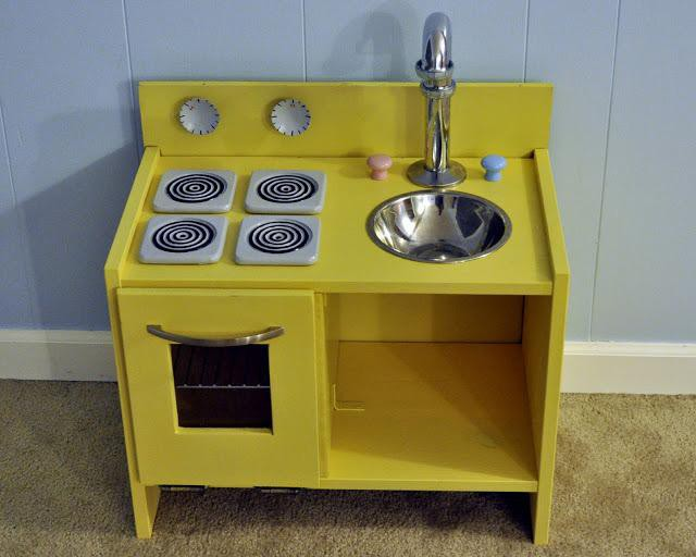 23. DIY Play Kitchen For Kids