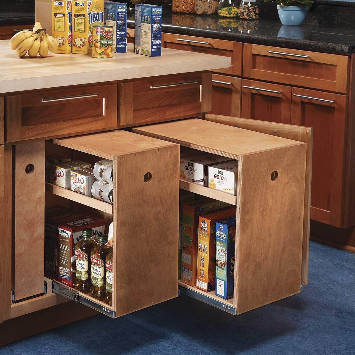 23. Roll-out Style Kitchen Cabinet Idea