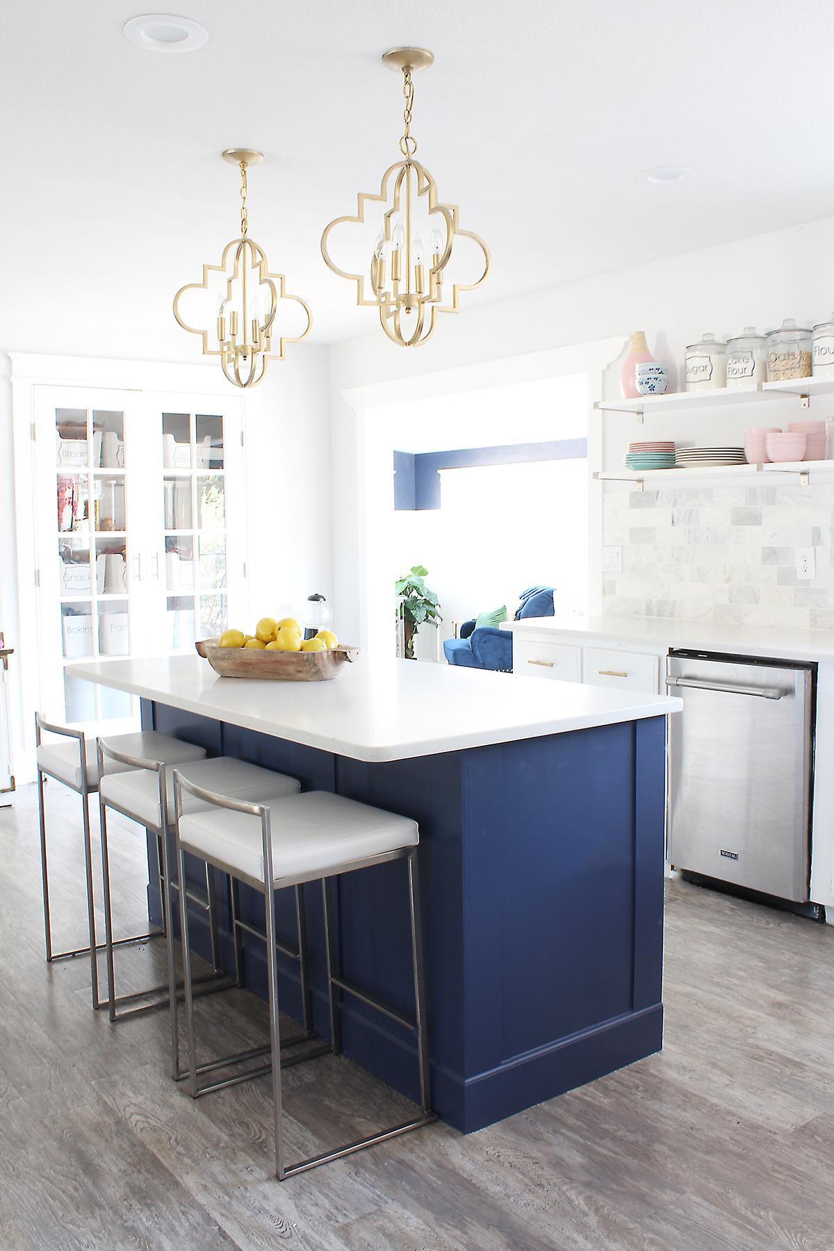 24. Blue DIY Kitchen Island
