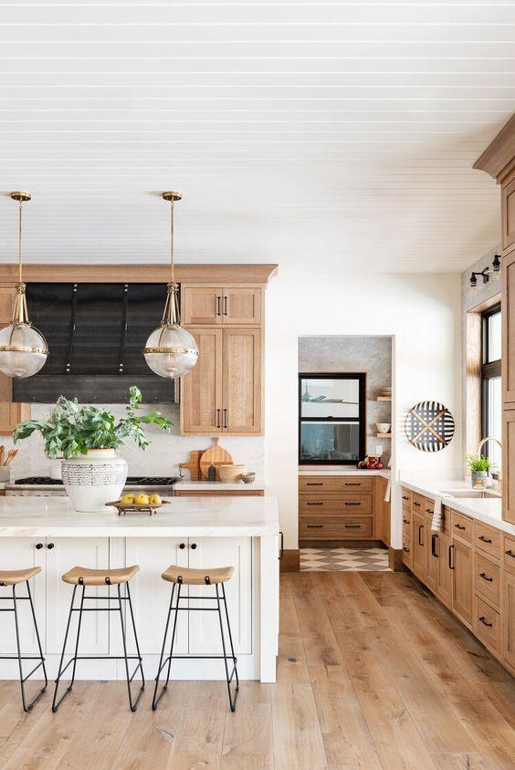 24.Natural Wood Kitchen