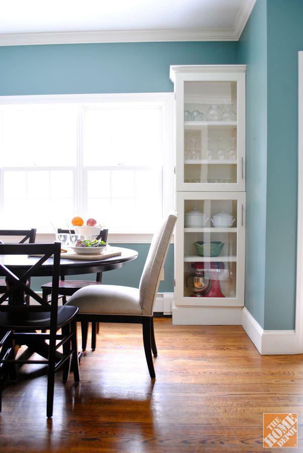 25. DIY Glass Kitchen Cabinet