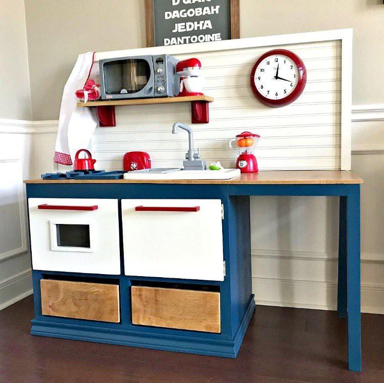 25. Play Kitchen DIY Woodworking Plan