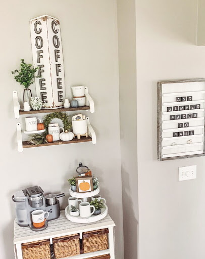 27.FARMHOUSE STYLE COFFEE BAR