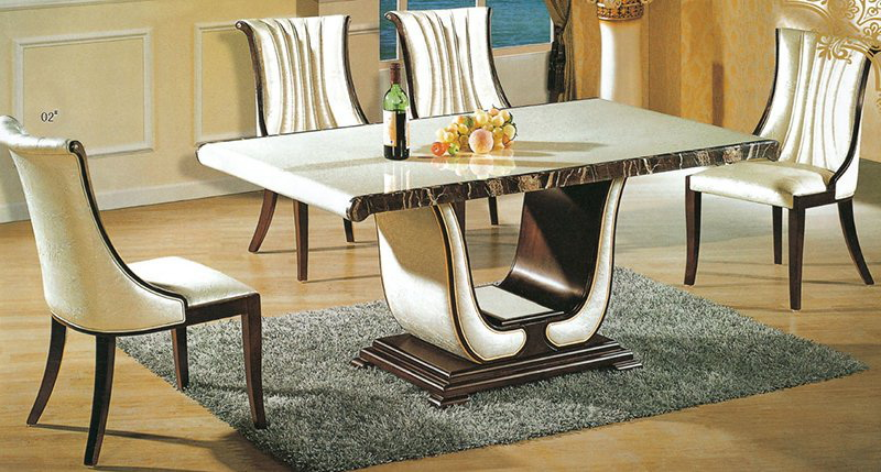 29. LUXURIOUS MADE OF MARBLE DINING TABLE