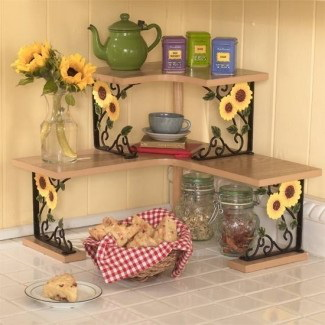 3. SUNFLOWER CORNER SHELVES