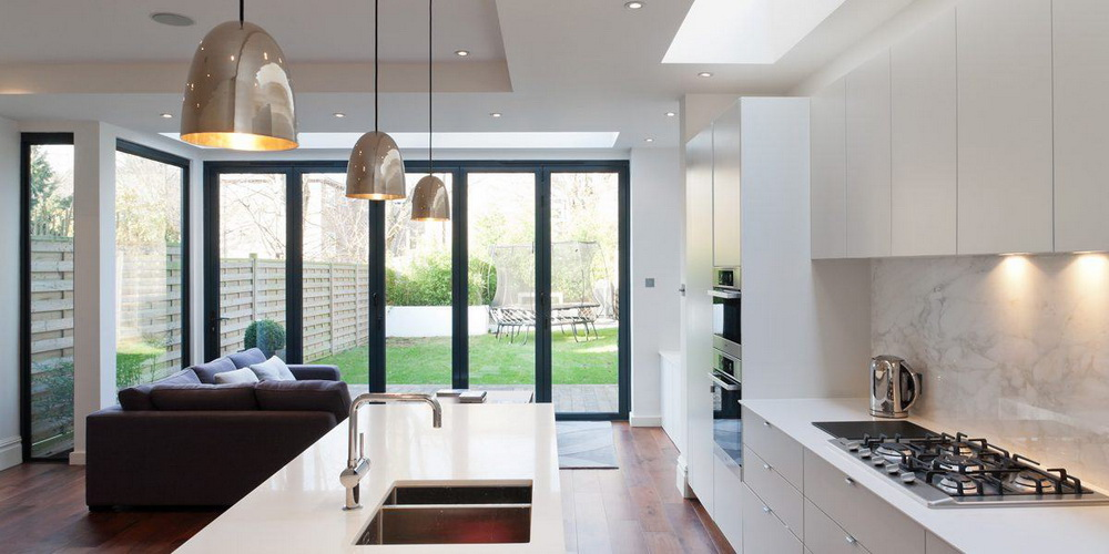 3.THE SMOKED GLASS CONTEMPORARY COOL KITCHEN ISLAND LIGHTING
