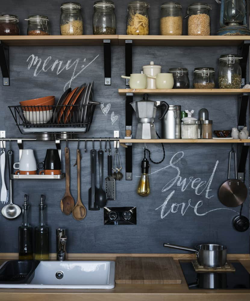 31. A CHALKBOARD WALL LOOK