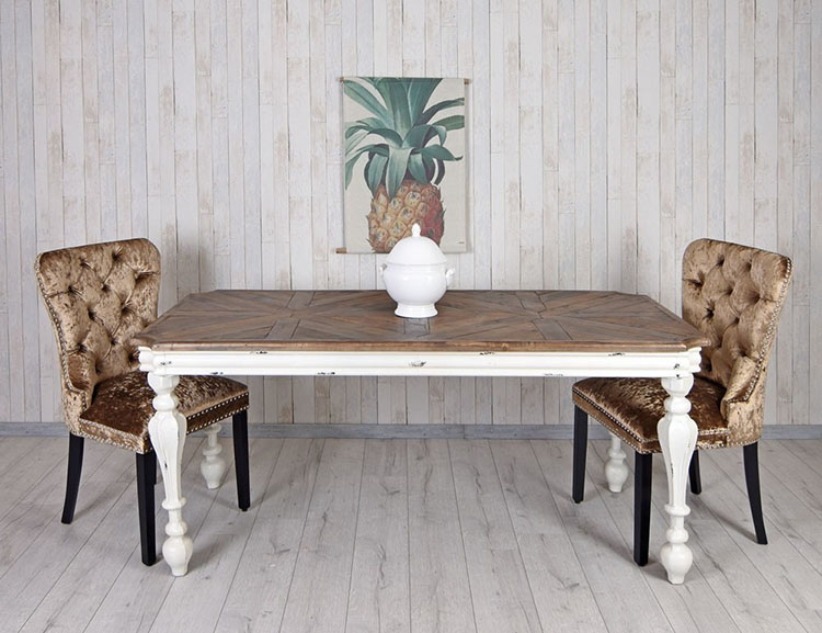31. DISTRESSED DINING TABLE