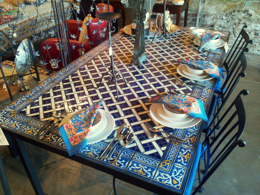 33. STONE TABLETOPS STYLE TABLE