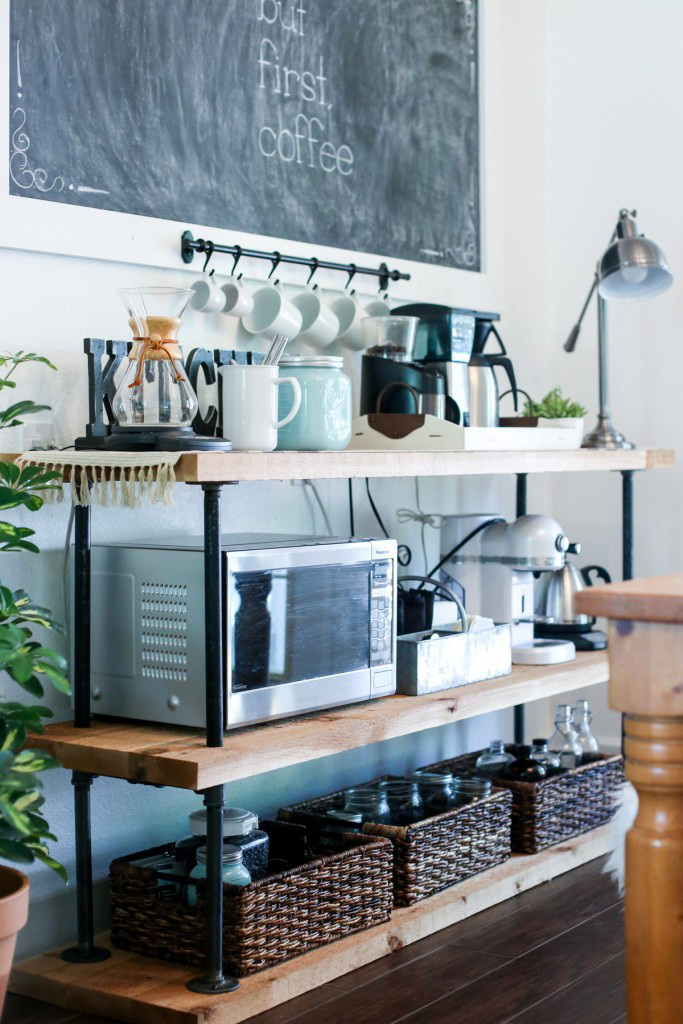 35.INDUSTRIAL PIPE THEME COFFEE BAR