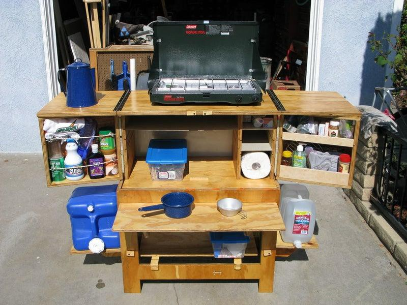 5. DIY Chuck Box Camp Kitchen