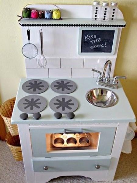 6. Low Budget DIY Play Kitchen
