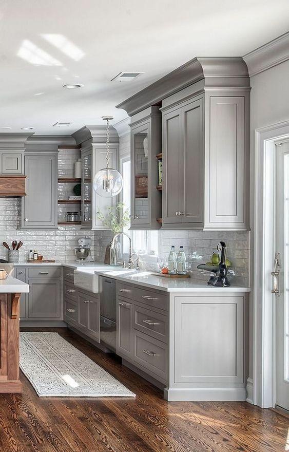 6.Luxury Farmhouse Kitchen Idea