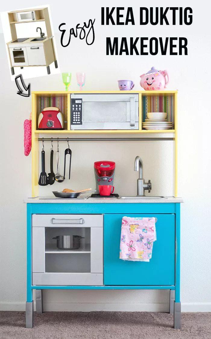 7. DIY Play Kitchen Makeover