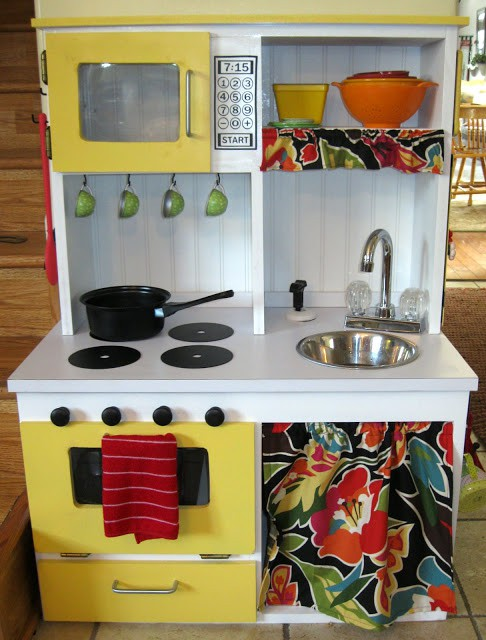 9. DIY Play Kitchen With Cabinet