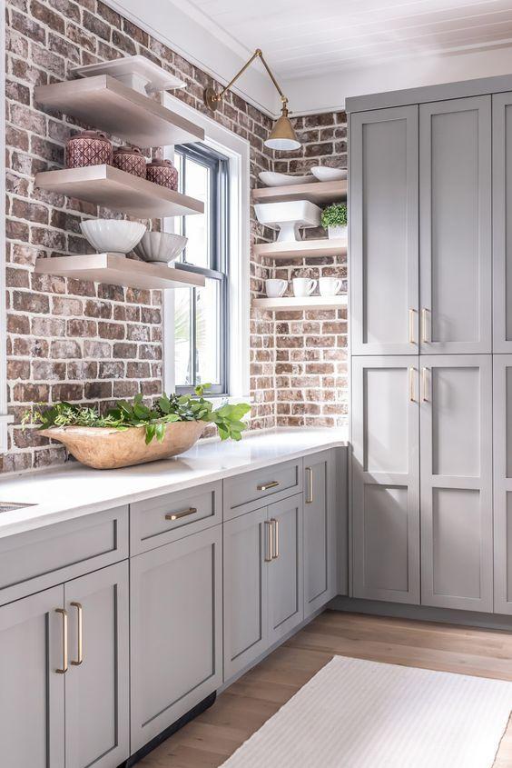 9.The Brick-Inspired Kitchen Design