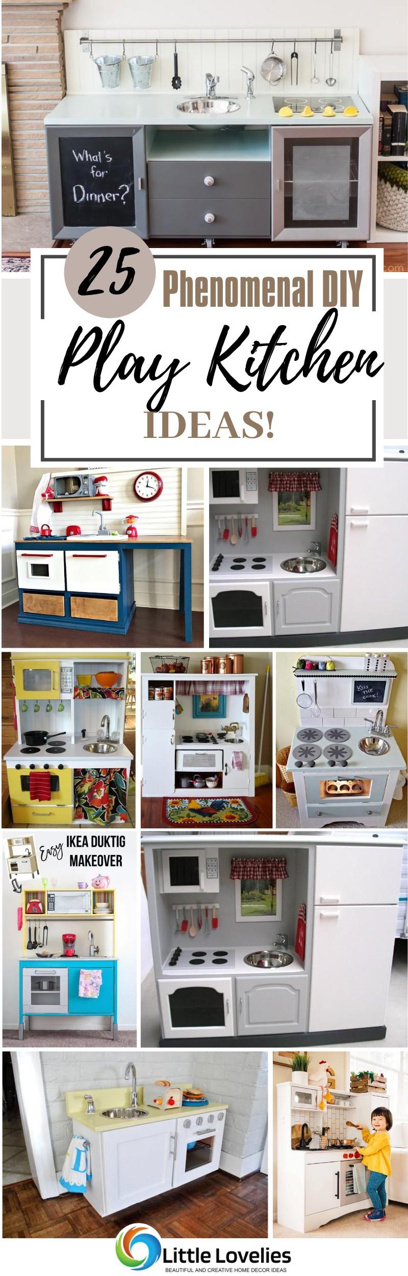Best Phenomenal DIY Play Kitchen Ideas