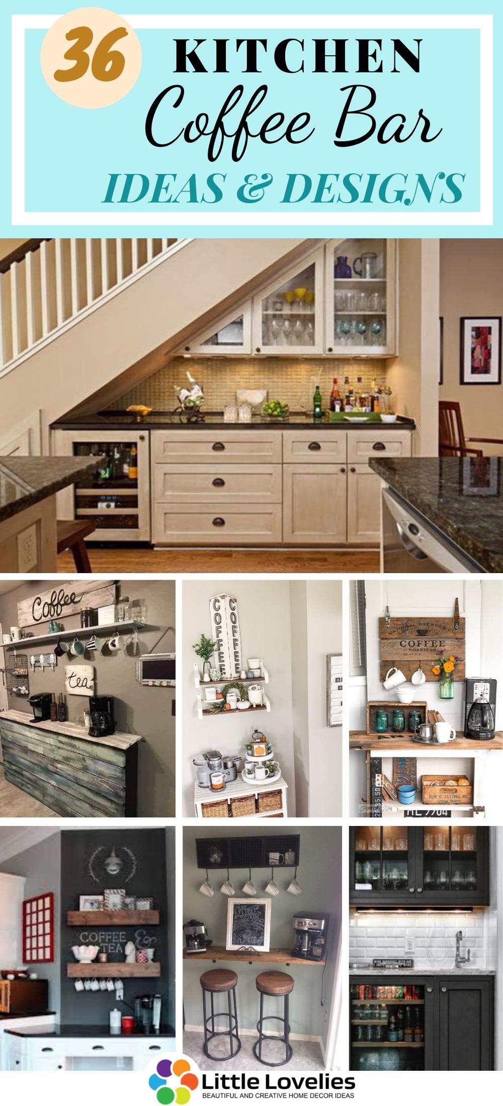 36 Kitchen Coffee Bar Ideas To Organize At Your Home Kitchen Bar