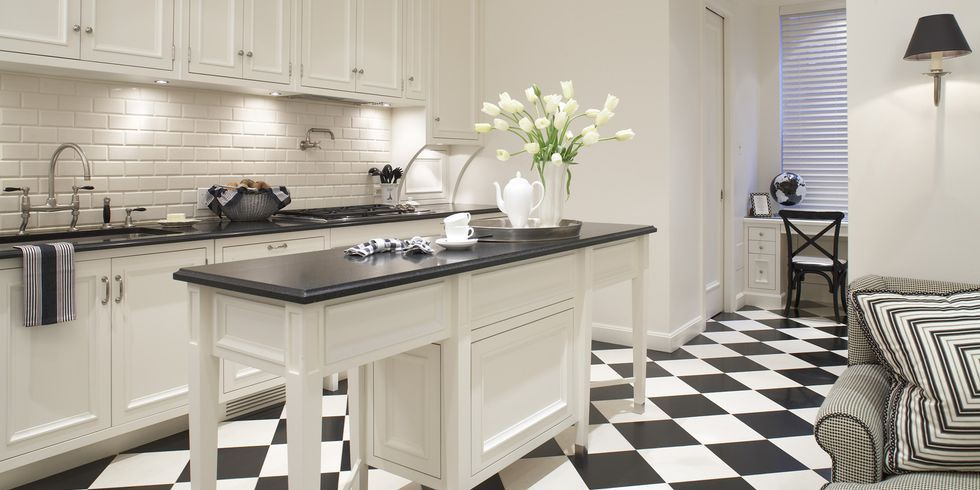 1. Black And White Floor Tiles