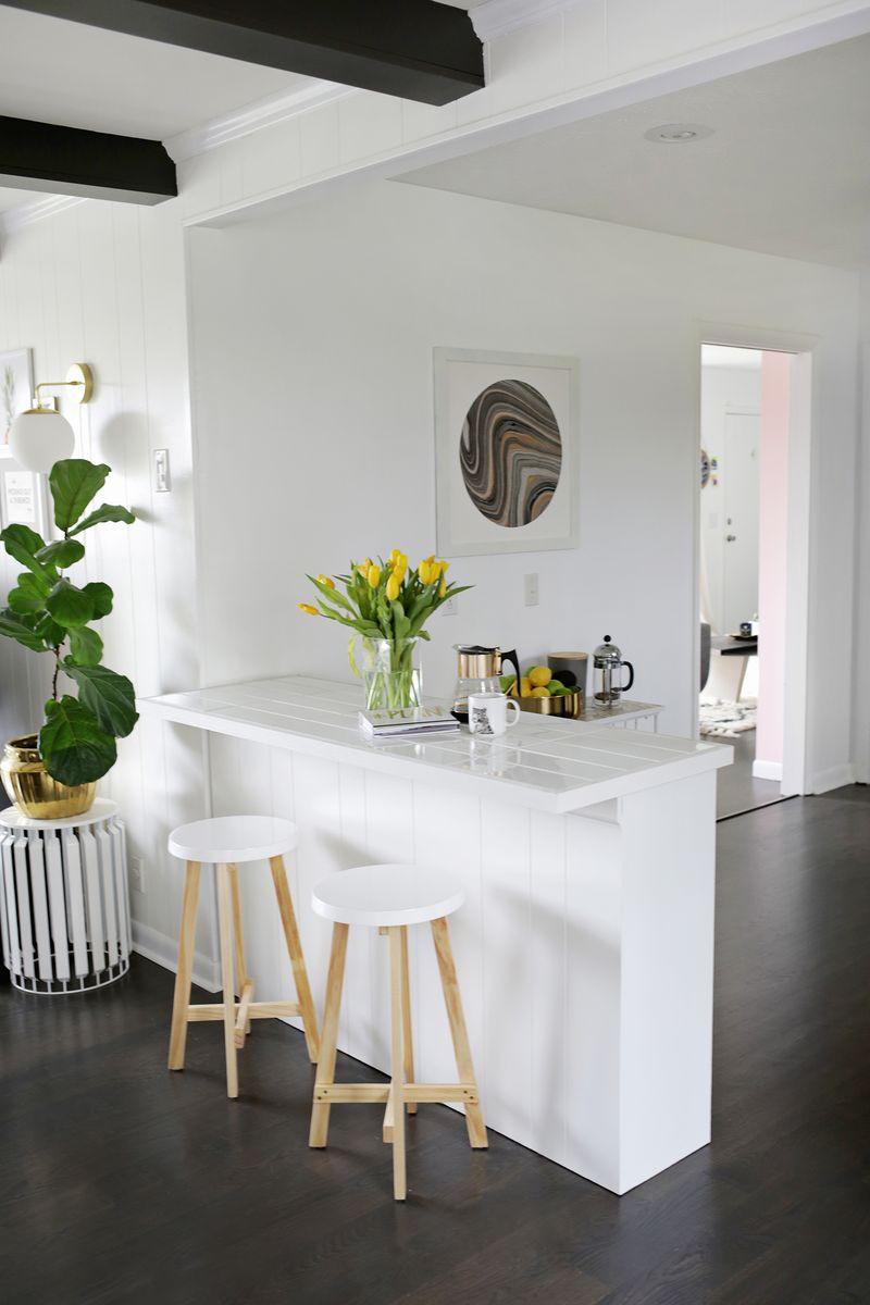 1. DIY Tiled Countertop