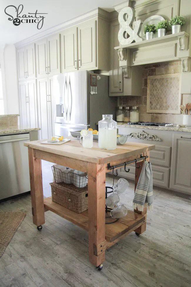 1. Rolling Kitchen Cart Idea
