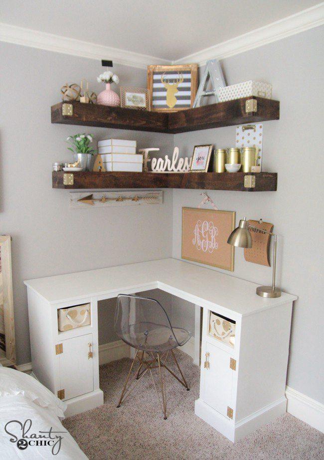 1. Simple DIY Corner Desk