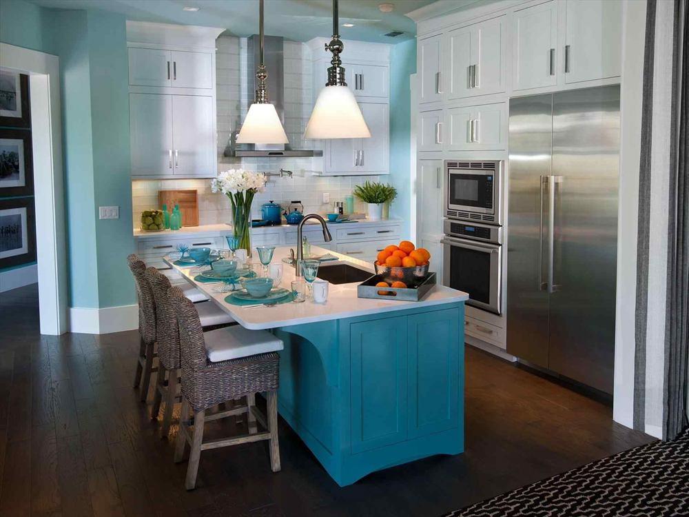 1. Teal Kitchen Decor
