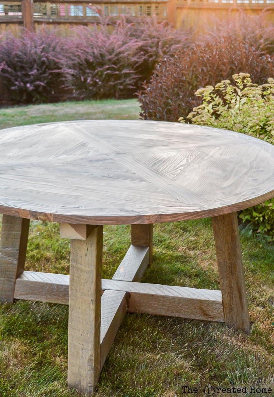 1. Wood Beam Round Table