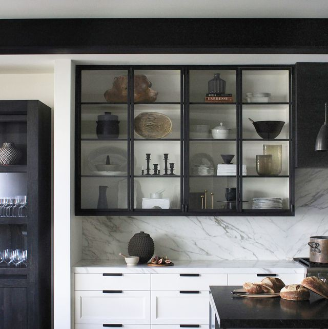 10. Black Floating Cabinets