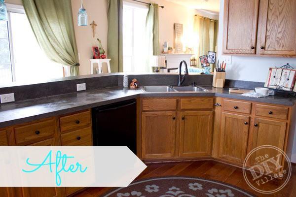 10. DIY Kitchen Countertop Makeover
