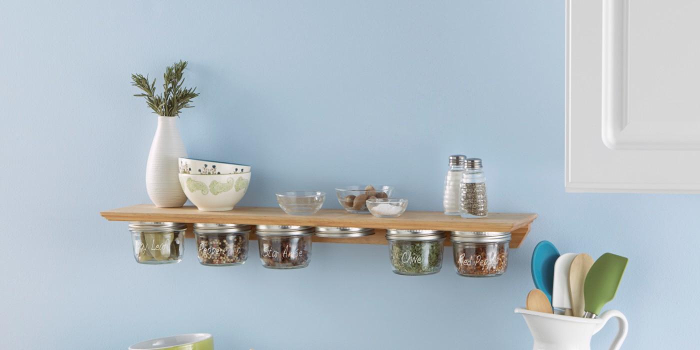 10. DIY Kitchen Spice Rack