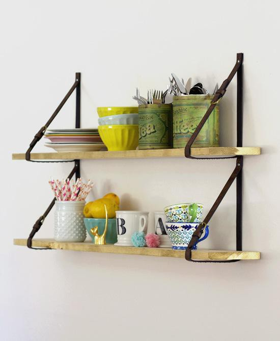 10. DIY Shelves With Belt Straps