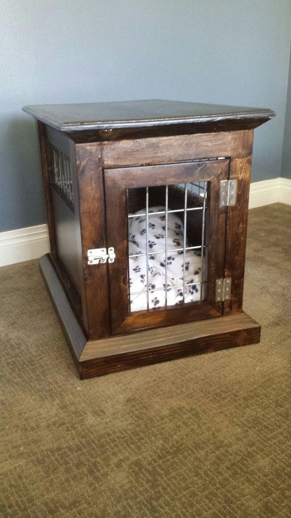 10. Dog Kennel End Table DIY