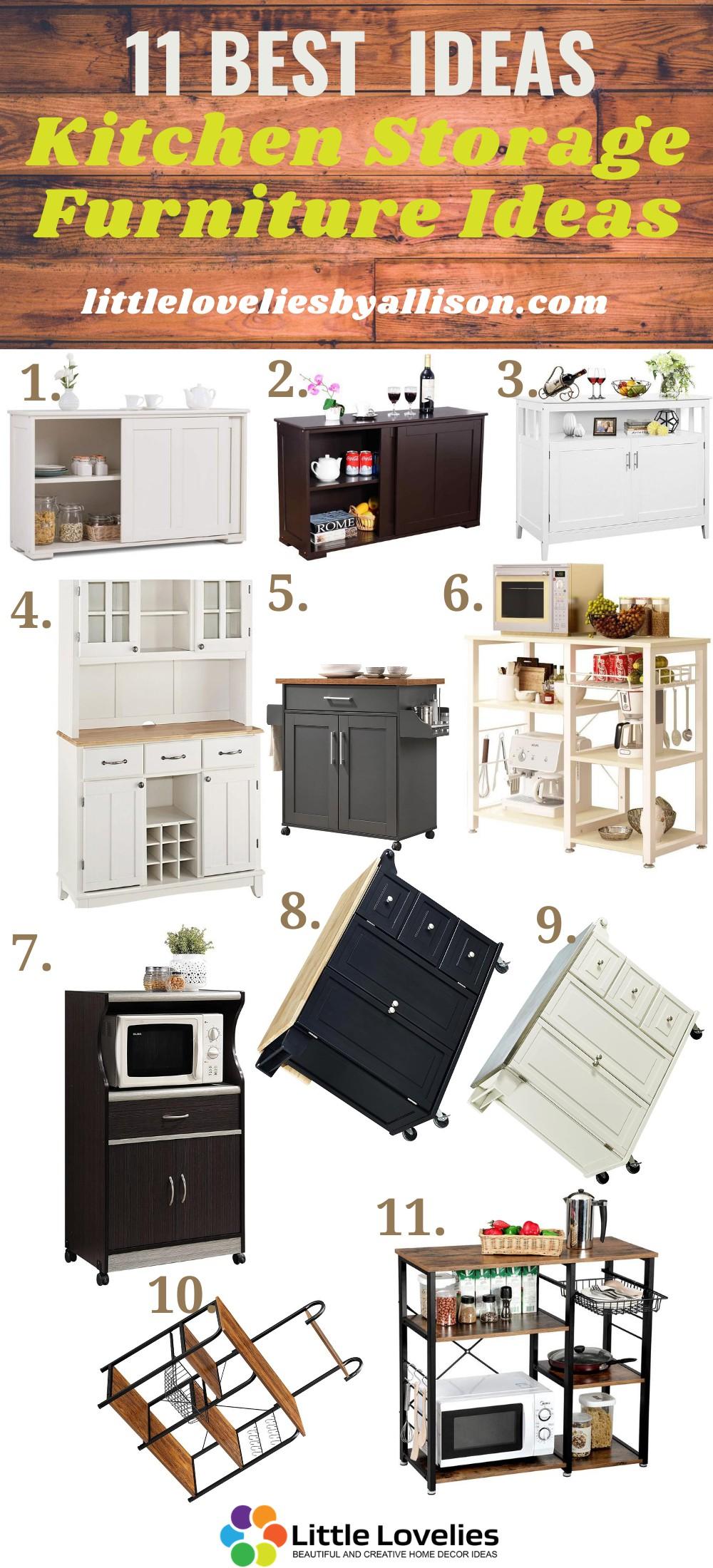 11 Kitchen Storage Furniture Ideas