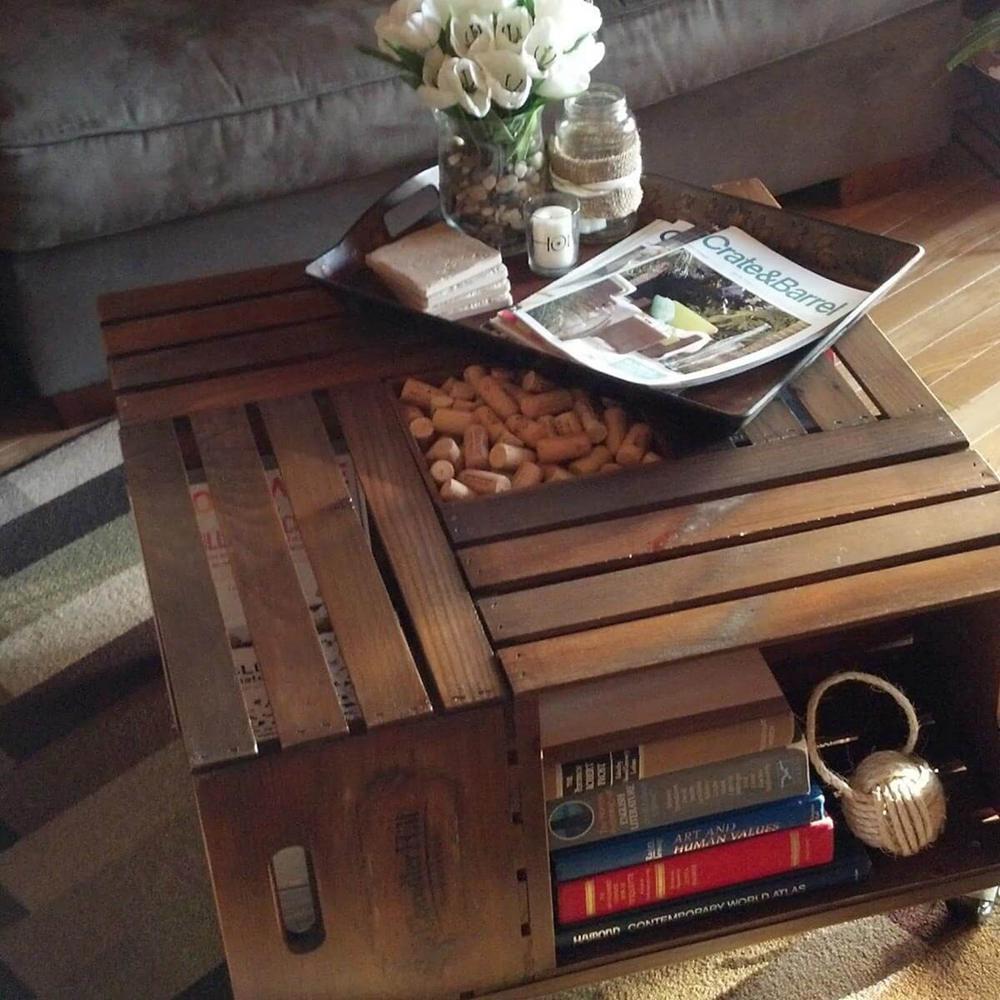 11. DIY Wine Crate Table
