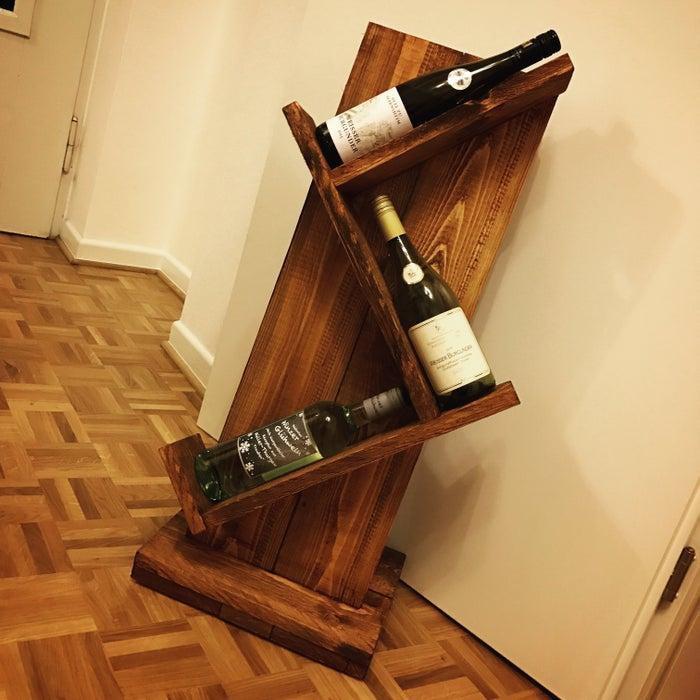 11. Rustic Wine Rack DIY