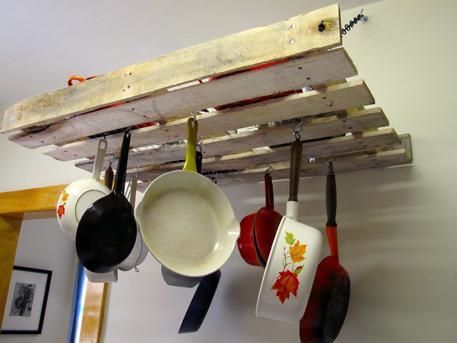 12. DIY Pallet Pot Rack