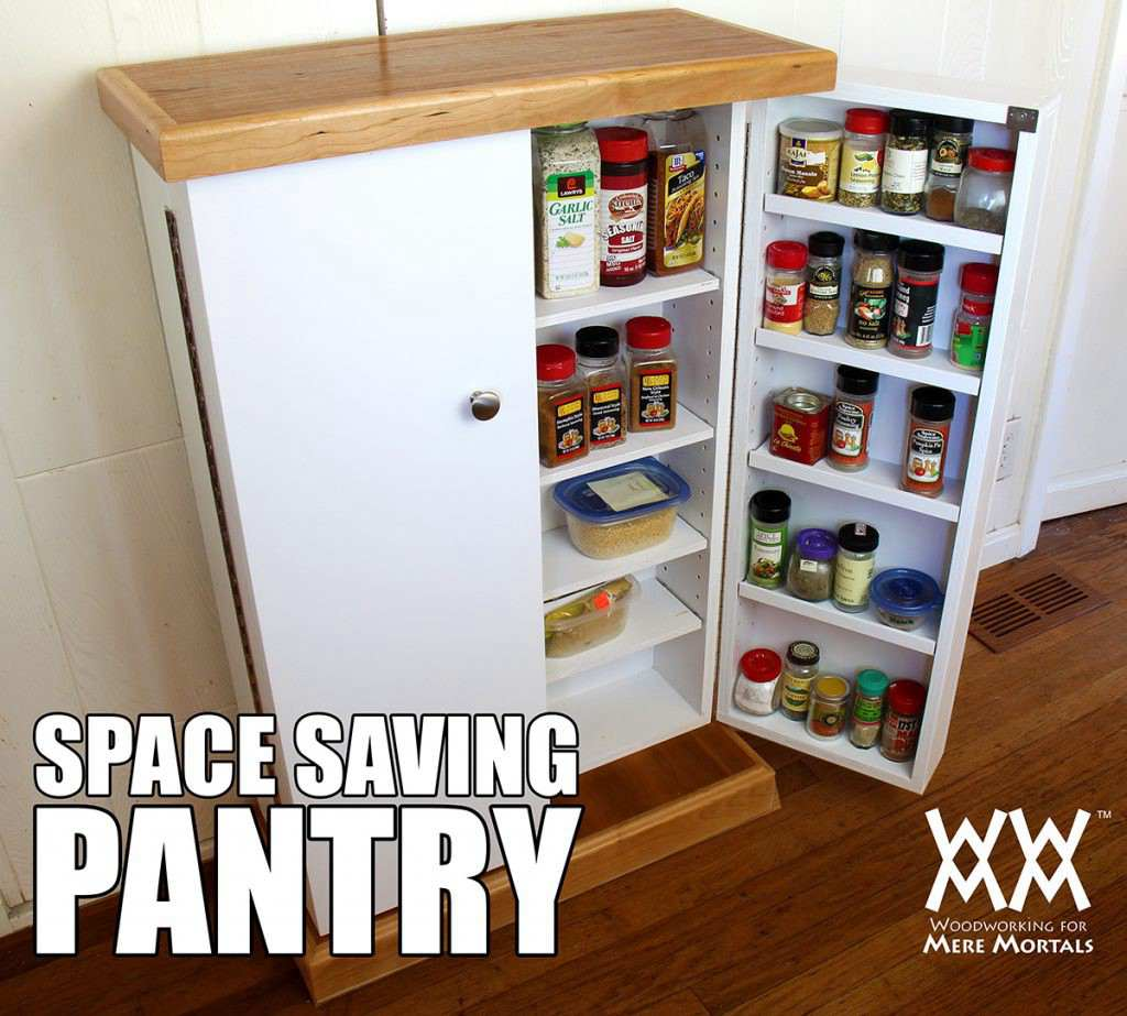 12. DIY Small Pantry For Spices