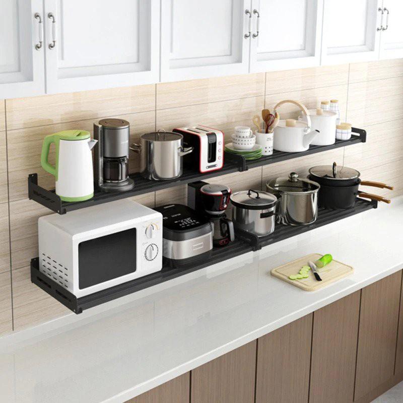 12. Floating Shelves For Appliance Storage