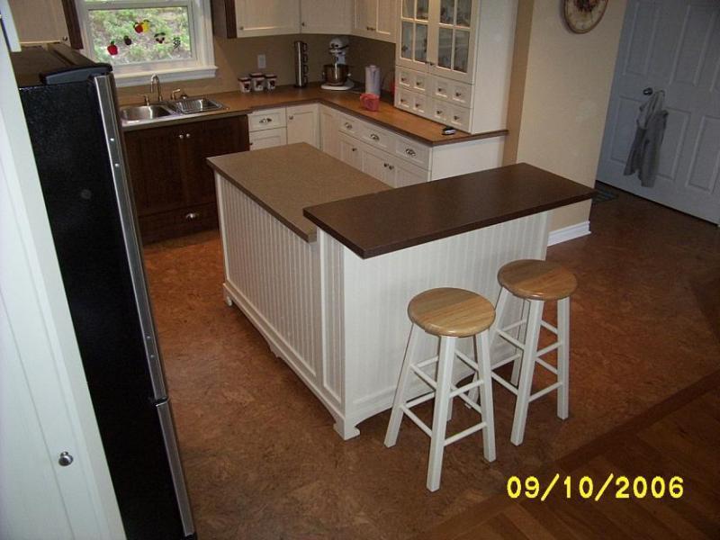 12. L-Shaped Kitchen Island DIY