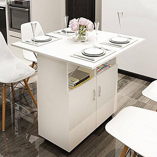 12. Small Kitchen Table Storage Idea