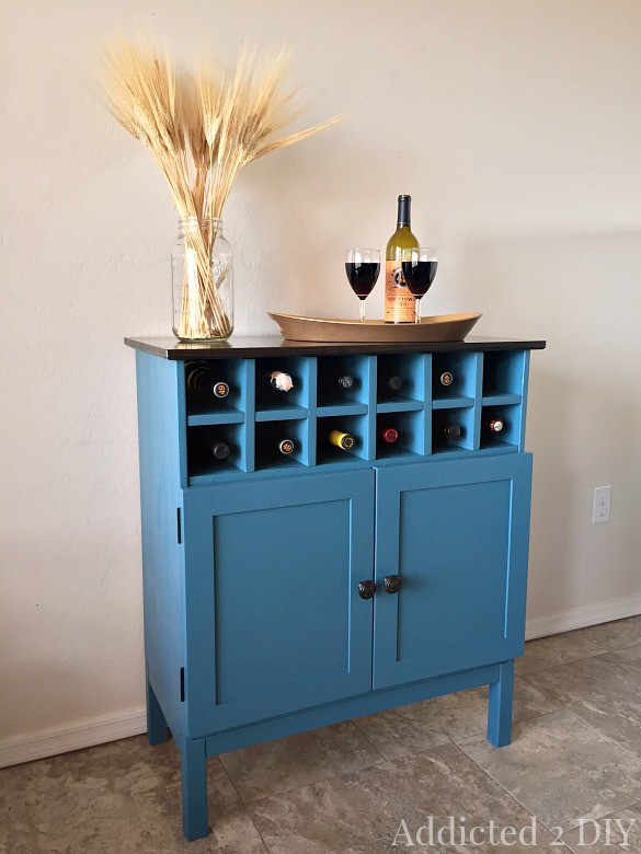 12. Transform Cabinet Into Mini-Bar