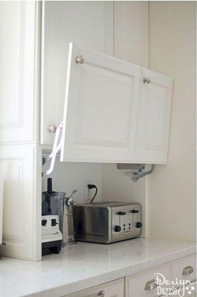 13. Countertop Appliance Storage With Door