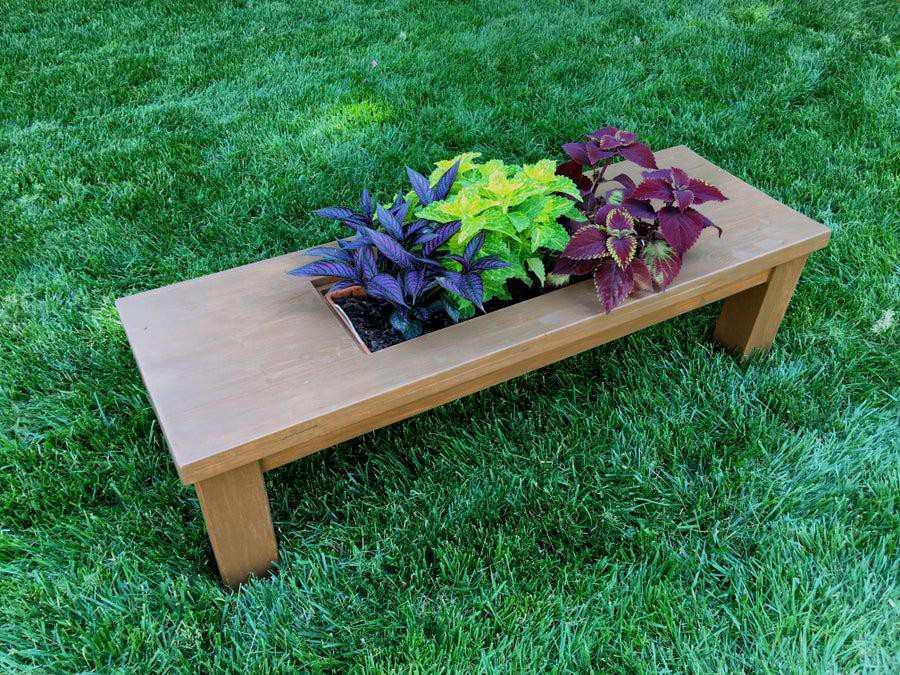 13. DIY Coffee Table With Flower