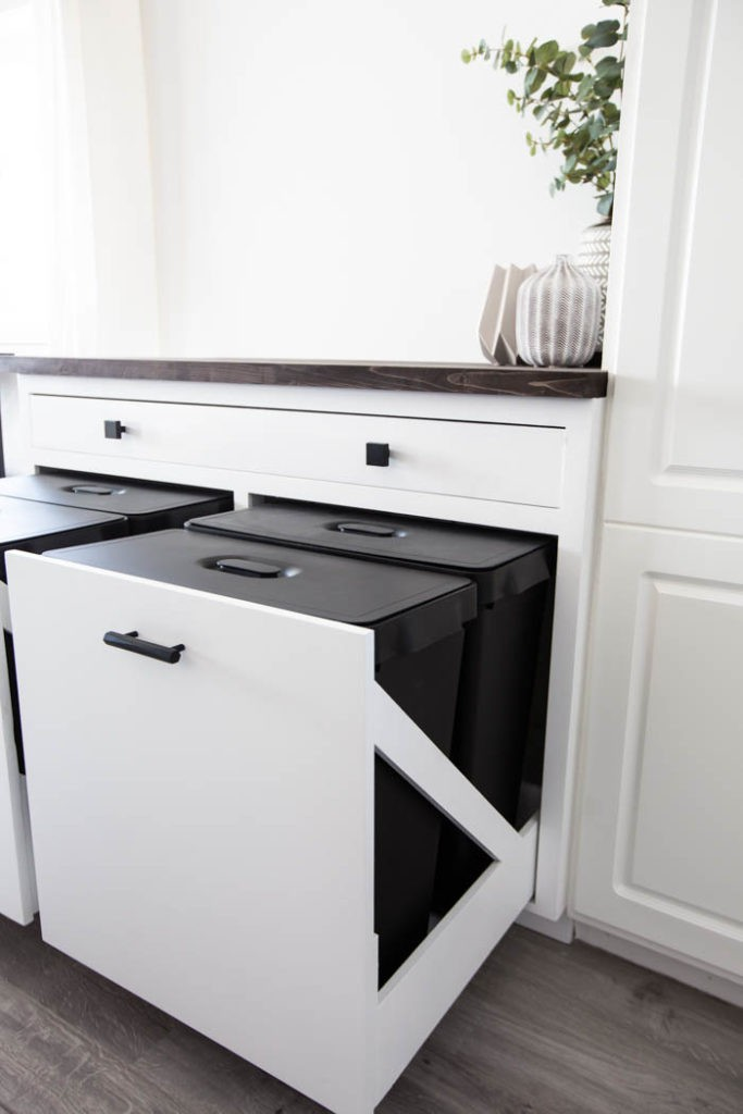 13. DIY Kitchen Trash Can Storage