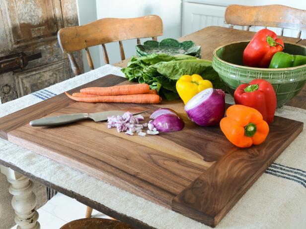 13. Modern Kitchen Wood Cutting Board DIY