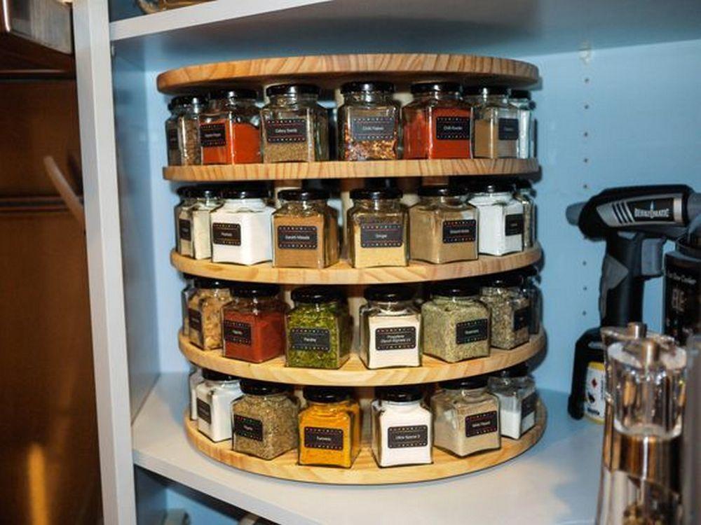 13. Spinning Spice Rack DIY